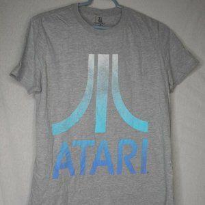 Blue Grey Atari  T-Shirt Short Sleeve Retro Gaming